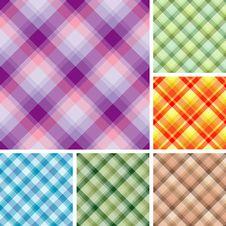 Many Seamless Plaid Patterns Royalty Free Stock Photography