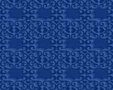 Free Seamless Blue Pattern Royalty Free Stock Images - 5199559