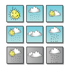 Free Weather Icons Stock Image - 5199721