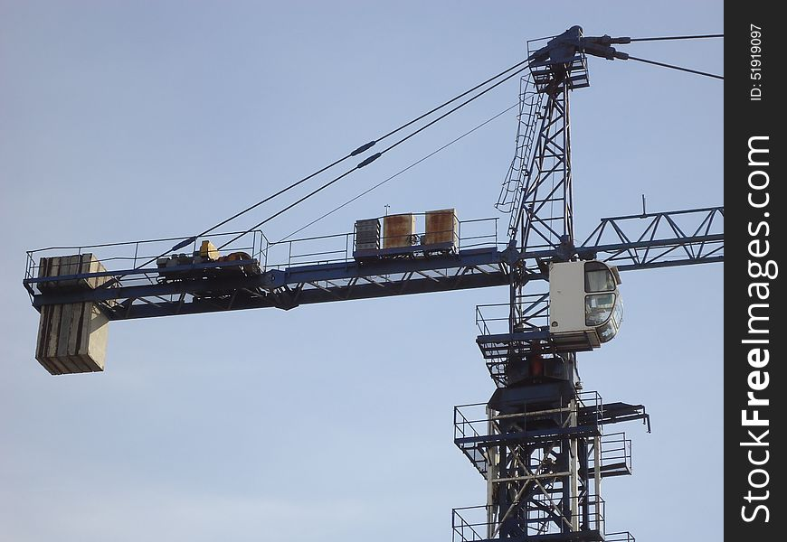 Construction crane.