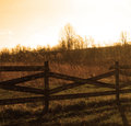 Free Old Country Fence In Field Royalty Free Stock Image - 51984566