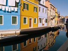 Free Canal Of Reflections 1 Royalty Free Stock Image - 520006