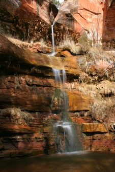 Free Thin Waterfall Cascade Stock Images - 520144