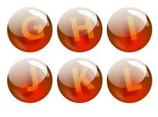 Letters Spheres Royalty Free Stock Photos