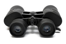 Free Binoculars Front - Side View W/ Path Stock Photos - 523543