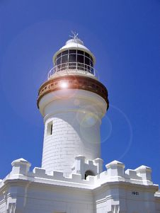 Free Lighthouse With Beam. Royalty Free Stock Photo - 525725
