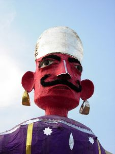 Demon In Traditional Indian Festival Stock Photography