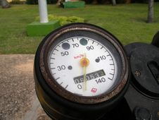 Rusted Speedometer Royalty Free Stock Images