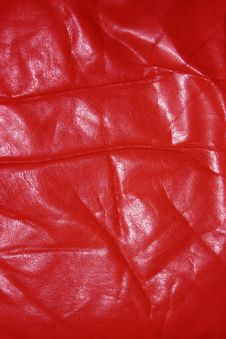 Free Wrinkled Old Red Leather Stock Photos - 527713