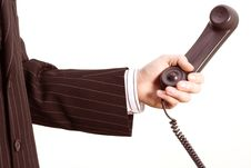 Free Telephone In A Business Hand Stock Photo - 528060