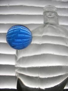 Free Still Life With Blue Glass Ball Stock Photo - 528140