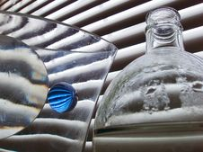 Free Still Life With Blue Glass Ball Stock Photography - 528172