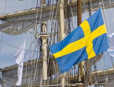Free Sailship With Flag 1 Royalty Free Stock Photo - 528675