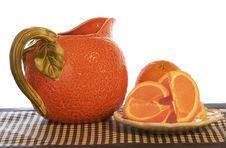Free Orange Pitcher And Wedges Stock Photography - 529092