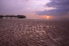 Free Blackpool Pier In Sunset Royalty Free Stock Image - 529506