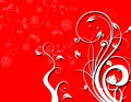 Free White Floral Silhouette On Red Background Stock Photos - 5204083