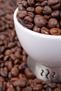 Free Cup Of Coffee Beans Royalty Free Stock Photos - 5204358