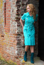 Free Girl Near The Wall Stock Photography - 5206962