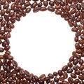 Free Circle Coffee Frame Royalty Free Stock Image - 5207036