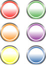 Free Six Glossy Circle-shaped Web Buttons Royalty Free Stock Photos - 5208468