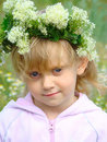 Free Little Girl And Chaplet. Stock Photos - 5209313
