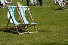 Free Vacant Deck Chairs Stock Photography - 5200352