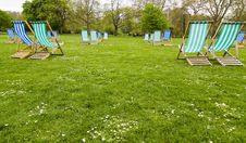 Free Empty Deck Chairs Royalty Free Stock Photography - 5200447
