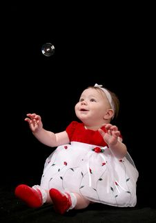 Bubble Baby Royalty Free Stock Image