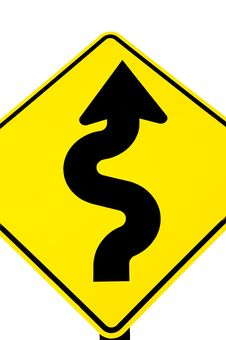 Curves Ahead Royalty Free Stock Photography