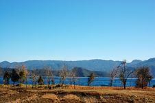 Rural Landscape In Lugu Lake Stock Image