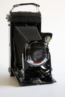 Free Old Folding Camera Royalty Free Stock Images - 5201139