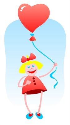 Free Girl And Balloon Royalty Free Stock Photography - 5201407