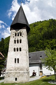 Free Romanic Church; Meiringen Stock Image - 5201521