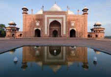 Free Side Building Of Taj Mahal Stock Photography - 5201652