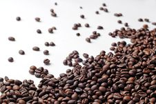 Free Fresh Coffee Beans Spread Royalty Free Stock Images - 5201889