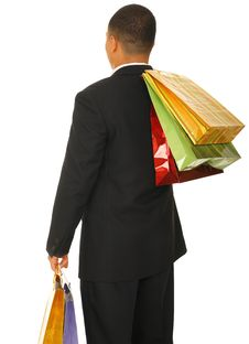 Free Shopper From Back Royalty Free Stock Image - 5201946