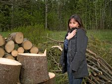 Free Young Women In Summer Wood Stock Image - 5202011