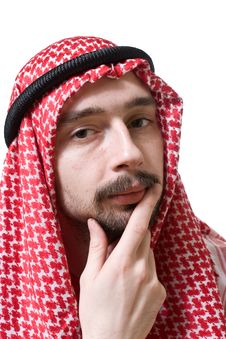 Free Thoughtful Arabian Young Man Stock Photography - 5204152