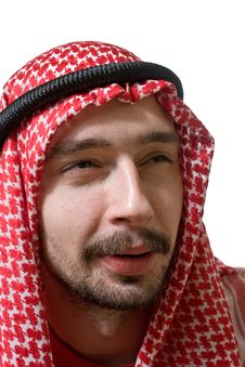 Suspecting Arabian Young Man Royalty Free Stock Images