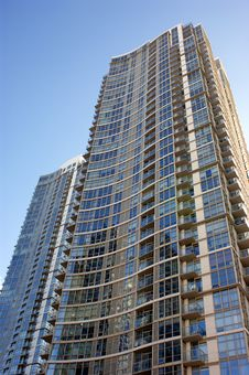 Modern Highrise Condo Royalty Free Stock Photo