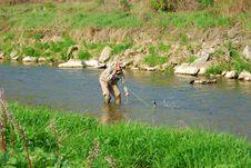 A Fisherman Stock Photo