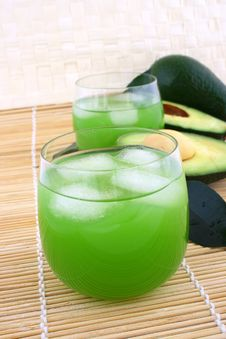 Avocado Juice Royalty Free Stock Photos