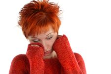 Free Sad Red Haired Woman Stock Photography - 5205832