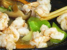 Stir-fried Shrimp Stock Image