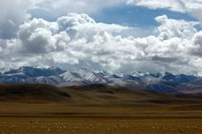 The Clouds Sheet Over The Tibet Stock Images