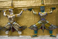 Free Figures In The Royal Palace, Bangkok Stock Photography - 5206782