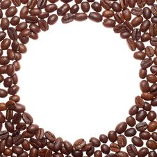 Free Circle Coffee Frame Royalty Free Stock Image - 5207036