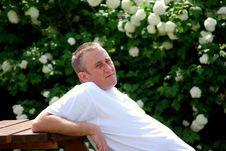 Man Relaxing Royalty Free Stock Photo