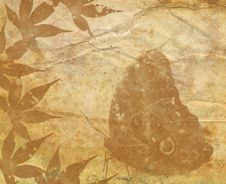 Free Old Paper Texture With Decorative Elements Stock Images - 5207114