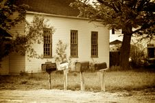 Free Old Fashion Mail Boxes Stock Photo - 5208560